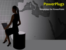 PowerPoint Template - Search engine concept